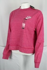 Nike Women's Sportswear Gym Vintage Crew Pullover Pink CK5224 615