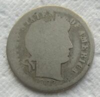 1892-S Barber Dime Rare Date Cleaned -  - -  -   We Have The Tough Dates  LQQK