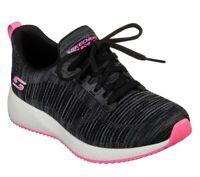 Skechers Womens 31370 BOBS Sport Squad Sizzle Fashion Sneaker Black/Pink