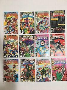MARVEL SUPER HEROES SECRET WARS #1-12 Major Keys First Venom Symbiote