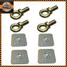 Seat Belt Harness Eye Bolts + Backing Mounting Plates 7/16 Thread UNF x4