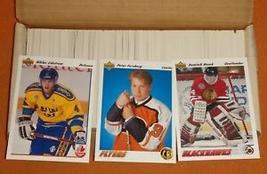 1991-92 Upper Deck Low Series Ice Hockey Cards Complete Set 1-500