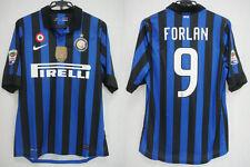2011-2012 Inter Milan Home Player Jersey Shirt Maglia PIRELLI Forlan #9 L BNWT