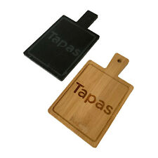 Wood & Slate Rectangle Cheese Tapas Antipasti Platter Serving Board Display Tray