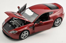 BLITZ VERSAND Aston Martin V12 Vantage 2010 bordeaux 1:24 Welly Modell Auto NEU