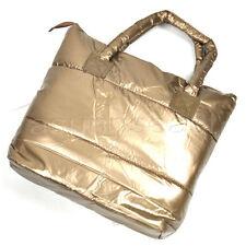 New Fashion Gold Women Space bag Cotton Feather down Tote handbag Shoulder Bag