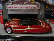 2012 Boulevard GANGSTER GRIN☆Burnt RED ☆ Real Riders☆New LOOSE Hot Wheels