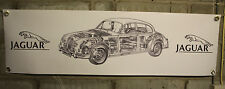 jaguar mk1 mk11 mk2 large pvc heavy duty WORK SHOP BANNER garage   SHOW