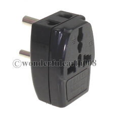 INDIA, Nepal 3-Multi Outlet Type D BS546 5A Standad Electrical Plug Adapter