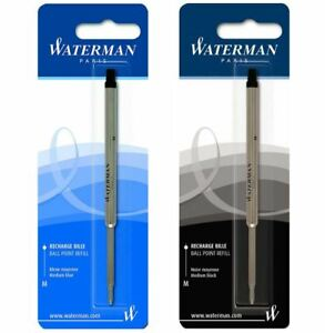 Waterman Ballpoint Ball Pen Refill - Blue or Black - MEDIUM Point