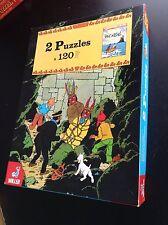 Boite de 2 Puzzles Tintin Willeb 1979 BON ETAT PLUS