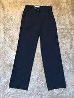 NWT NEW Max Mara Navy Blue Piquet Career Work Trouser Pants Size 8