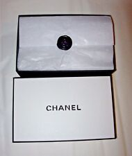 AUTHENTIC CHANEL LOGO BRAND KEEPSAKE GIFT BOX MEDIUM 9x6x3 TISSUE & WAX SEAL