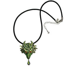 KIRKS FOLLY THOR DRAGON PIN PENDANT CORD NECKLACE ST ~~NEW 2017 RELEASE