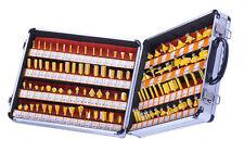 "100pcs 1/4"" Shank Tungsten Tungsten Carbide Tipped Router Bit Set"
