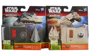 Radio controlled Star wars micro  machines star destroyer/millennium falcon,