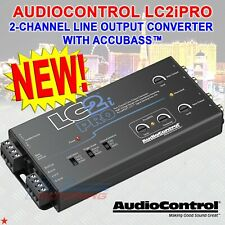 Audiocontrol Lc2iPro Black 2 Channel Line Output Converter W/ Accubass And Acr-1
