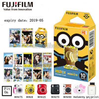 Limited 10 Minions Yellow Fuji Instax Mini Instant Film For 7s 8 25 50s 90 SP-1