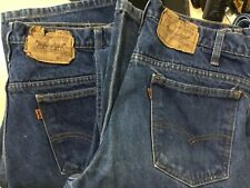 VIntage Levis Mens 517 Denim Orange Tab 70s Bootcut Excellent Jeans 32x38