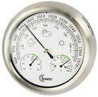 SUNARTIS THB367S IN - OUTDOOR WEATHER STATION BAROMETER STAINLESS STEEL
