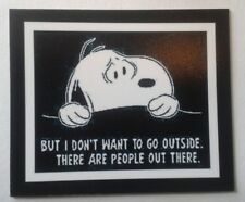 Peanuts ♡ Snoopy ♡ Dont go Outside ♡ Magnet ♡