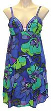 "NEW ""SEDUCE"" COCKTAIL TAN DRESS Women Size 12 Floral Chiffon Party Formal"