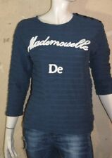 KOOKAI Taille 1 - 36 Superbe pull manches 3/4 bleu femme en coton pullover