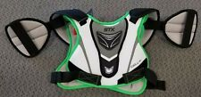 New Stx Cell 100 Lacrosse Shoulder Pads White / Black / Green Medium Med M