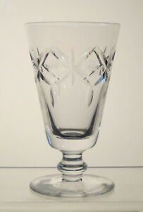 """UNKNOWN Footed Juice or Sherry Glass 4 5/8"""", est c1950, Tomato, Oyster Cocktail"""