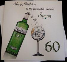 Handmade Personalised Birthday Card  21st 30th 40th 50th Son Grandson Husband