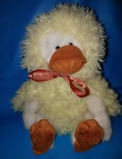 """Boyds Bears Quackers 11"""" White Bear Disguised as a Cute Duck w/Mask & Web Shoes"""