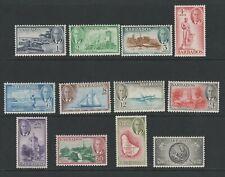 BARBADOS GEORGE VI 1950 DEFINITIVE SET x12 COMPLETE MNH