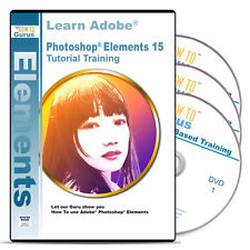 Photoshop Elements 15 tutorial training 16 hours 239 videos on 3 DVDs
