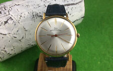 GORGEOUS USSR wrist watch LUCH  23JEWELS GOLD PLATED ....35mm