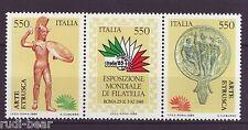 Italien Nr. 1902-04  **  Briefmarkenausstellung ITALIA  Zusammendruck