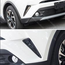 Fit For toyota C-HR CHR 2pc Carbon fiber color Front Fog Light Lamp Cover