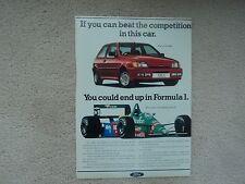 Ford Fiesta XR2i - Advertisement  - 1989