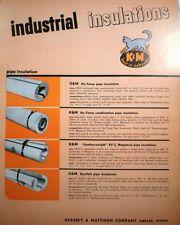 Keasbey & Mattison Industrial ASBESTOS Insulation 1953