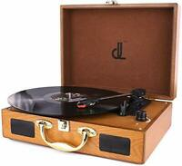 D & L SOUL Record player suitcase-type grain retro turntable 3 speed DL-6...