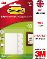3M Command Small Picture Hanging Self-Adhesive Strips Damage Free