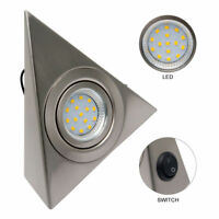 LED MAINS KITCHEN UNDER CABINET CUPBOARD TRIANGLE LIGHT KIT COOL WARM WHITE #