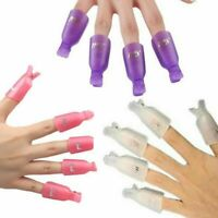 10Pcs Plastic Acrylic Nail Art Soak Off Clip Cap Remover Wrap Tool UV Gel Polish
