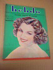 """REVUE """"HEBDO - no 51"""" COUV.  DRATZ (1934) BUSTER CRABBE / W. DISNEY / C. GABLE"""