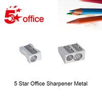 5 Star Metal Pencil Sharpener 1 or 2 Holes