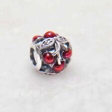 Genuine Sterling Silver PANDORA - SWEET CHERRIES Charm Pendant 791900 S925 ALE