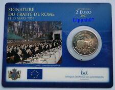 Luxemburg / Luxembourg speciale 2 euro 2007 Verdrag van Rome BU in Coincard