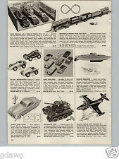 1957 PAPER AD Hafner Mechanical Toy Train Set Gama Tank Friction Navy Panther