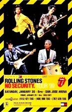 ROLLING STONES 1999 NO SECURITY TOUR OFFICIAL SAN JOSE ARENA CONCERT POSTER