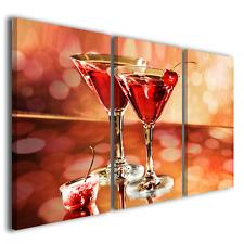 Quadri moderni bar Elegant cocktail martini ciliege stampa tela canvas ® quality