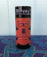 Vintage Ceramic Tiki Mug Harvey's Sneaky Tiki Lake Tahoe Red Black